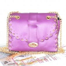 Женский клатч с заклепками 01546551077947purple фиолетовый