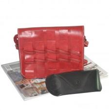 Женская сумка плетеная 01527922716172red красная