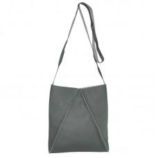 Женская сумка с объемными швами 01543529622215black черная