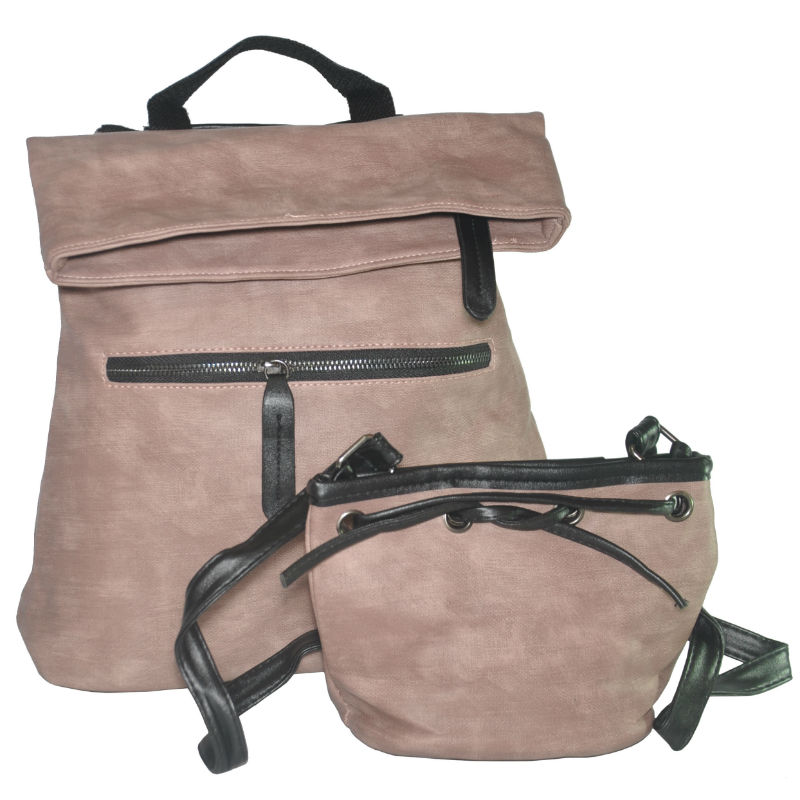 9b96af3e7f91 Комплект сумка-рюкзак и клатч-мешочек 01540895543353pink розовый ...