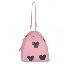 Женская сумка мешочек 01534623391778pink розовая