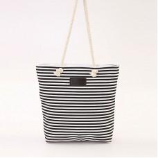 Женская сумка полосатая 01543174167493black черная