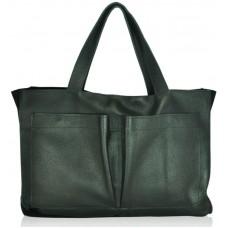 Женская кожаная сумка sfk-69 черная