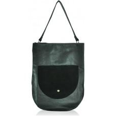 Женская кожаная сумка sf-47 черная