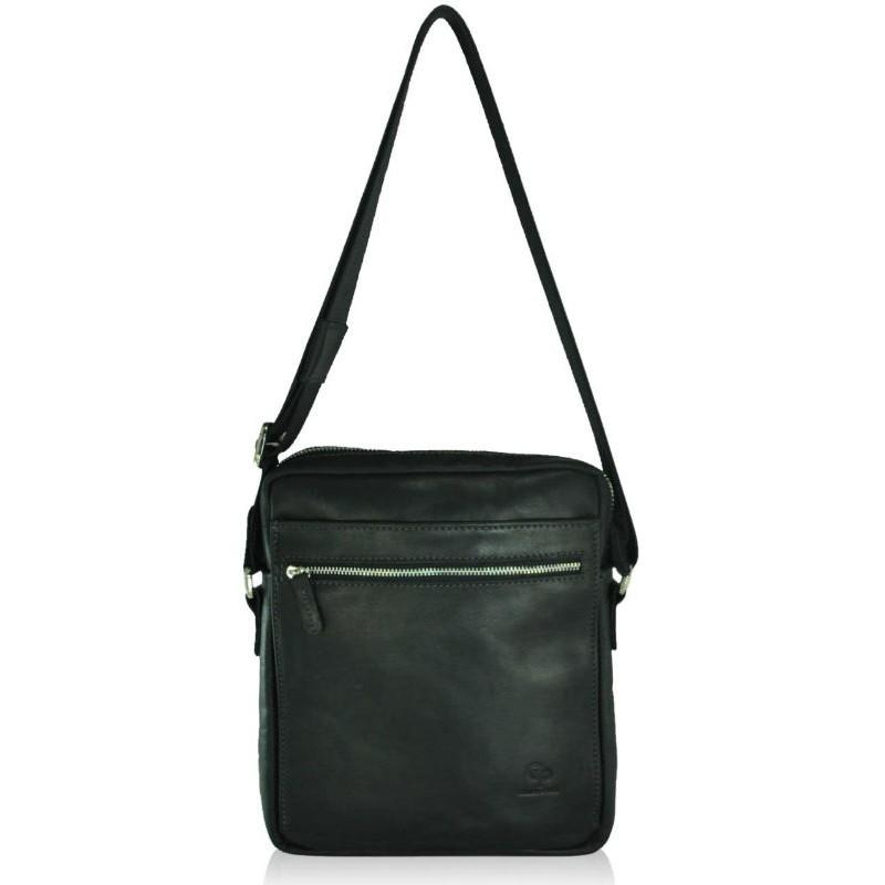 9e1090bacf63 Мужская кожаная сумка Grande Pelle Modern черная — купить недорого в ...