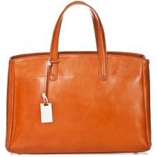 Кожаная женская сумка Bottega Carele BC115-ginger рыжая