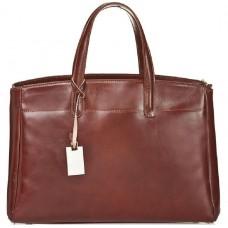 Кожаная женская сумка Bottega Carele BC115-brown коричневая