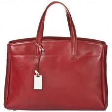 Кожаная женская сумка Bottega Carele BC115-red красная