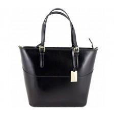 Кожаная женская сумка Bottega Carele BC118-black черная