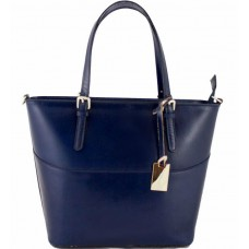 Кожаная женская сумка Bottega Carele BC118-darkblue тёмно-синяя