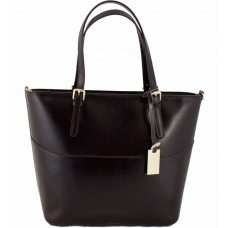 Кожаная женская сумка Bottega Carele BC118-darkbrown тёмно-коричневая