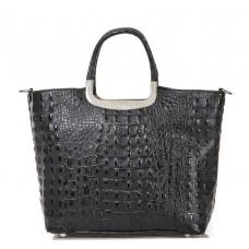 Кожаная женская сумка Bottega Carele BC123-black черная