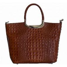 Кожаная женская сумка Bottega Carele BC123-brown коричневая