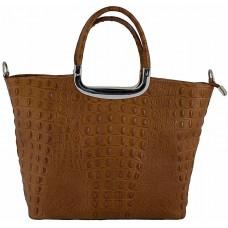 Кожаная женская сумка Bottega Carele BC123-ginger рыжая
