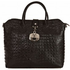 Кожаная женская сумка Bottega Carele BC127-black черная