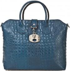 Кожаная женская сумка Bottega Carele BC127-blue синяя