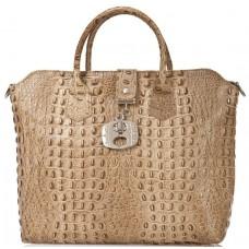 Кожаная женская сумка Bottega Carele BC127-taupe тауп
