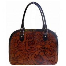 Кожаная женская сумка Bottega Carele BC213-brown коричневая