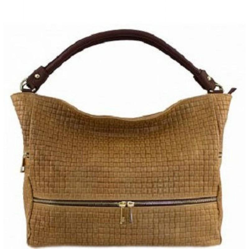 9c0fba38480f Кожаная женская сумка Bottega Carele BC215-ginger итальянская купить ...