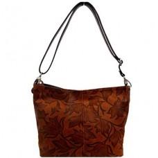 Кожаная женская сумка Bottega Carele BC216-brown коричневая