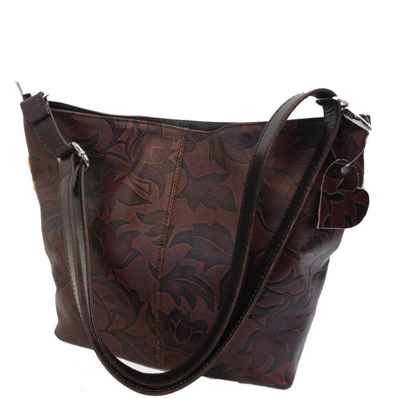 a8310833c819 Кожаная женская сумка Bottega Carele BC216-darkbrown тёмно-коричневая