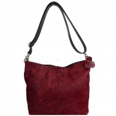 Кожаная женская сумка Bottega Carele BC216-red красная