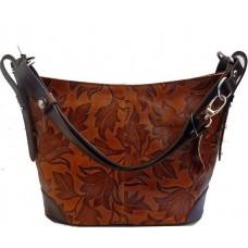 Кожаная женская сумка Bottega Carele BC217-brown коричневая