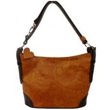 Кожаная женская сумка Bottega Carele BC217-ginger рыжая