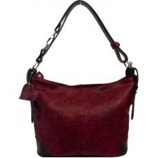 Кожаная женская сумка Bottega Carele BC217-red красная