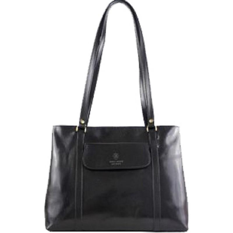 b3fcda31b492 Кожаная женская сумка Bottega Carele BC224 черная итальянская купить ...