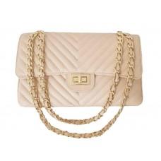 Кожаная женская сумка Bottega Carele BC235-pink розовая