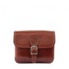 Кожаная женская сумочка Bottega Carele BC302-brown коричневая