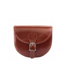 Кожаная женская сумочка Bottega Carele BC303-brown коричневая
