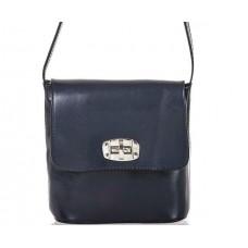 Кожаная женская сумка Bottega Carele BC306-darkblue тёмно-синяя