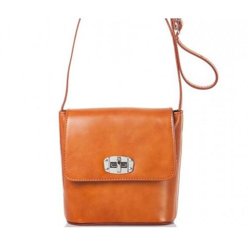 Кожаная женская сумка Bottega Carele BC306-ginger рыжая