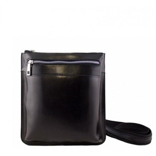 Кожаная сумка унисекс Bottega Carele BC307-black черная