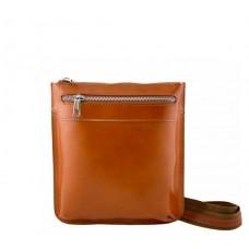 Кожаная сумка унисекс Bottega Carele BC307-ginger рыжая