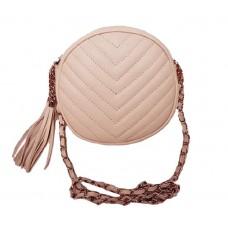 Кожаная сумочка Bottega Carele BC329-pink розовая