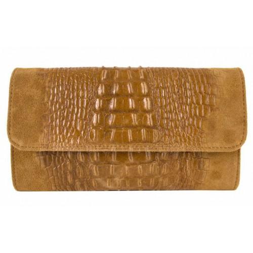 Кожаная женская сумка-клатч Bottega Carele BC504-ginger рыжая