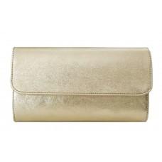Кожаная женская сумка- клатч Bottega Carele BC5041-gold золотая
