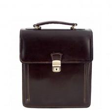 946606d7c984 Кожаная сумка унисекс Bottega Carele BC601-darkbrown тёмно-коричневая