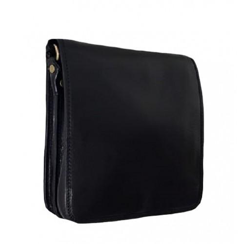 Кожаная сумка Bottega Carele BC603-black черная