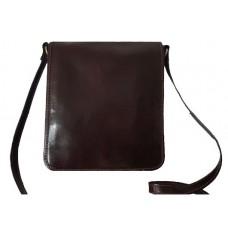 Кожаная сумка Bottega Carele BC603-dark-brown темно-коричневая