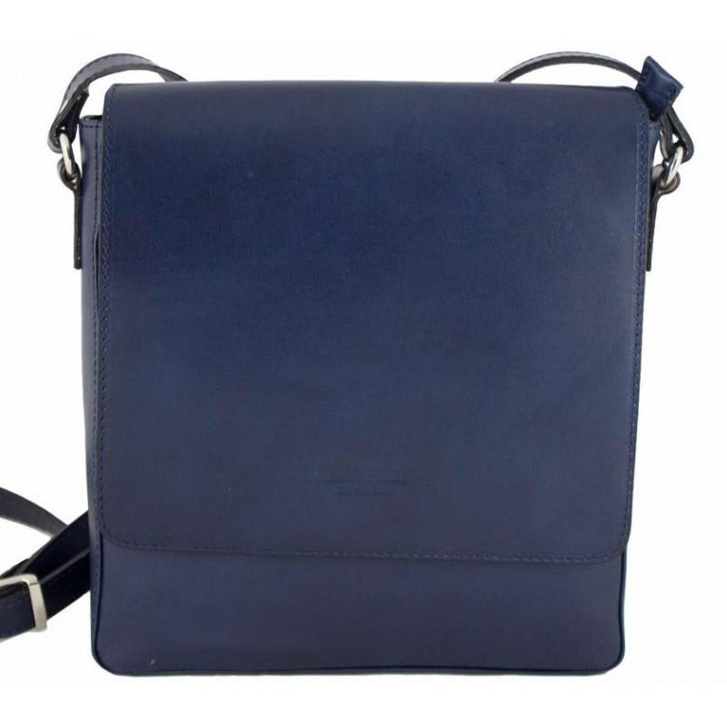 93d1e87e1d05 Кожаная мужская сумка Bottega Carele BC610 тёмно-синяя итальянская ...