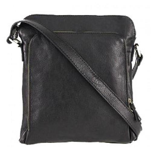 Кожаная сумка Bottega Carele BC613-black черная