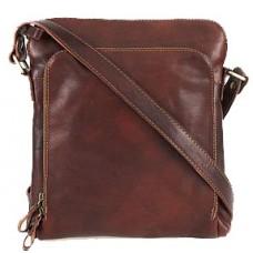 Кожаная сумка Bottega Carele BC613-brown коричневая
