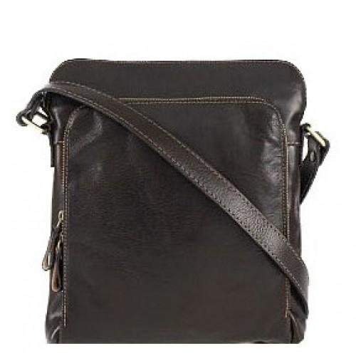 Кожаная сумка Bottega Carele BC613-dark-brown темно-коричневая
