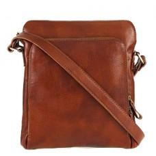 Кожаная сумка Bottega Carele BC613-ginger рыжая