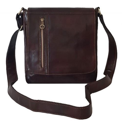 Кожаная сумка Bottega Carele BC617-dark-brown темно-коричневая