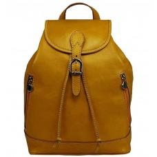 Кожаный рюкзак Bottega Carele BC701-yellow желтый